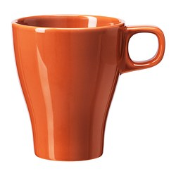 FÄRGRIK mug, orange Height: 11 cm Volume: 25 cl
