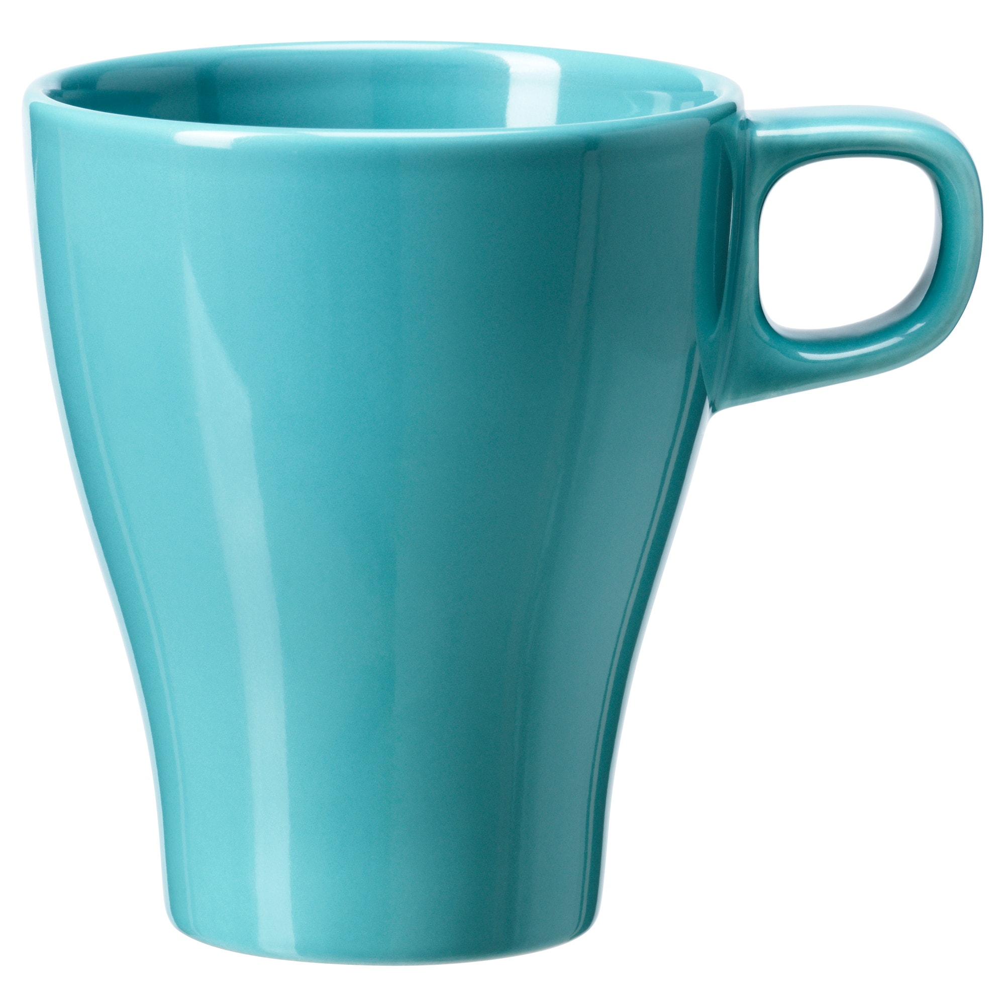coffee mugs  tea cups  ikea - fÄrgrik mug turquoise height   volume  oz height