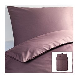 "GÄSPA duvet cover and pillowcase(s), dark lilac Duvet cover length: 86 "" Duvet cover width: 86 "" Pillowcase length: 20 "" Duvet cover length: 218 cm Duvet cover width: 218 cm Pillowcase length: 51 cm"