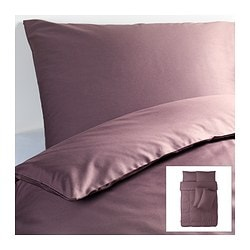 GÄSPA quilt cover and 4 pillowcases, dark lilac Quilt cover length: 200 cm Quilt cover width: 200 cm Pillowcase length: 50 cm