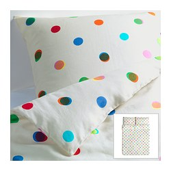 "IKEA PS 2012 duvet cover and pillowcase(s), white Duvet cover length: 86 "" Duvet cover width: 86 "" Pillowcase length: 20 "" Duvet cover length: 218 cm Duvet cover width: 218 cm Pillowcase length: 51 cm"