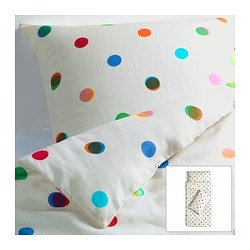 IKEA PS 2012 quilt cover and 2 pillowcases, white Quilt cover length: 200 cm Quilt cover width: 150 cm Pillowcase length: 50 cm