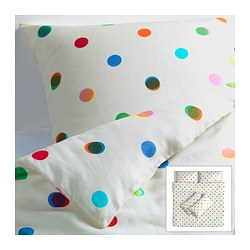 IKEA PS 2012 quilt cover and 4 pillowcases, white Quilt cover length: 220 cm Quilt cover width: 240 cm Pillowcase length: 50 cm