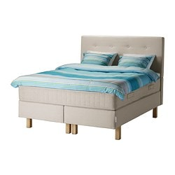 BEKKESTUA divan bed, firm natural colour, Hesseng Length: 200 cm Width: 160 cm Height: 140 cm