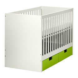 STUVA cot with drawers Bed width: 60 cm Bed length: 120 cm