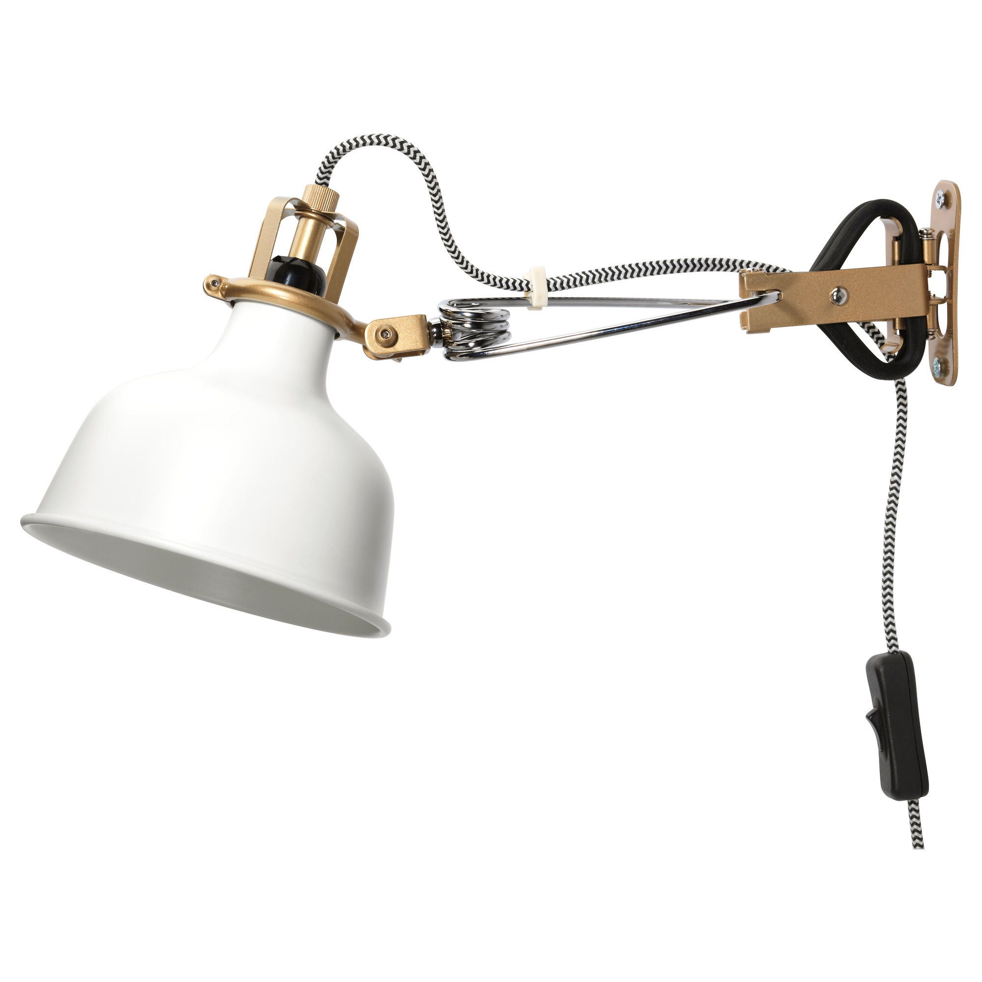 Ranarp Wall Clamp Spotlight With Led Bulb Off White Max 7