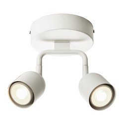 "ÖSTANÅ ceiling spotlight, white Max.: 7 W Height: 8 1/4 "" Base diameter: 5 1/2 "" Max.: 7 W Height: 21 cm Base diameter: 14 cm"