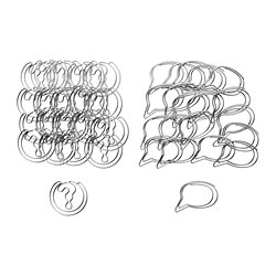 VÄLBEKANT paper clip, silver-colour, assorted designs Package quantity: 20 pack