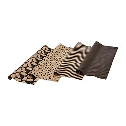 FRAMSTÄLLA gift wrap roll, assorted patterns black Length: 3 m Width: 70 cm Area: 2.10 m²