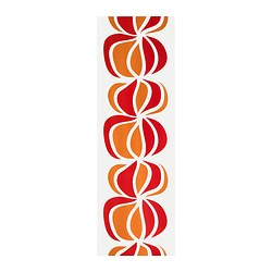 ULLASTINA panel curtain, white/red Length: 300 cm Width: 60 cm