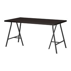 LINNMON /  LERBERG table, black-brown, gray