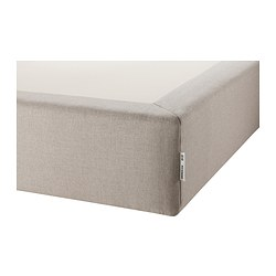 EVENSKJER mattress base, natural colour Length: 190 cm Width: 135 cm Height: 26 cm