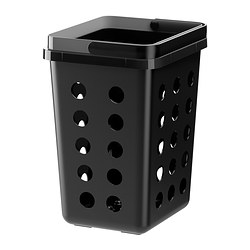 VARIERA ventilated waste sorting bin, black