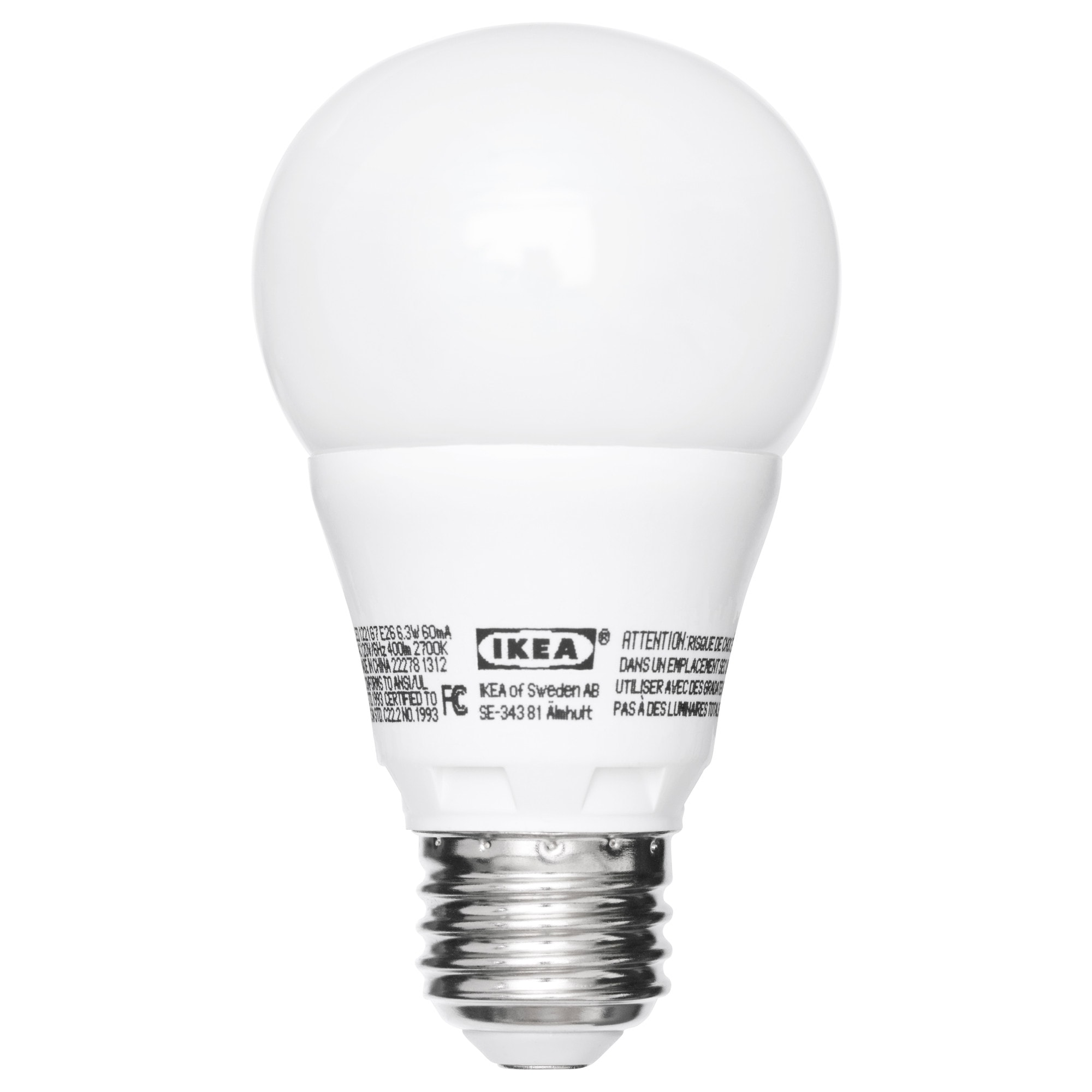 LEDARE LED bulb E26 400 lumen, dimmable, globe opal Luminous flux: 400 Lumen