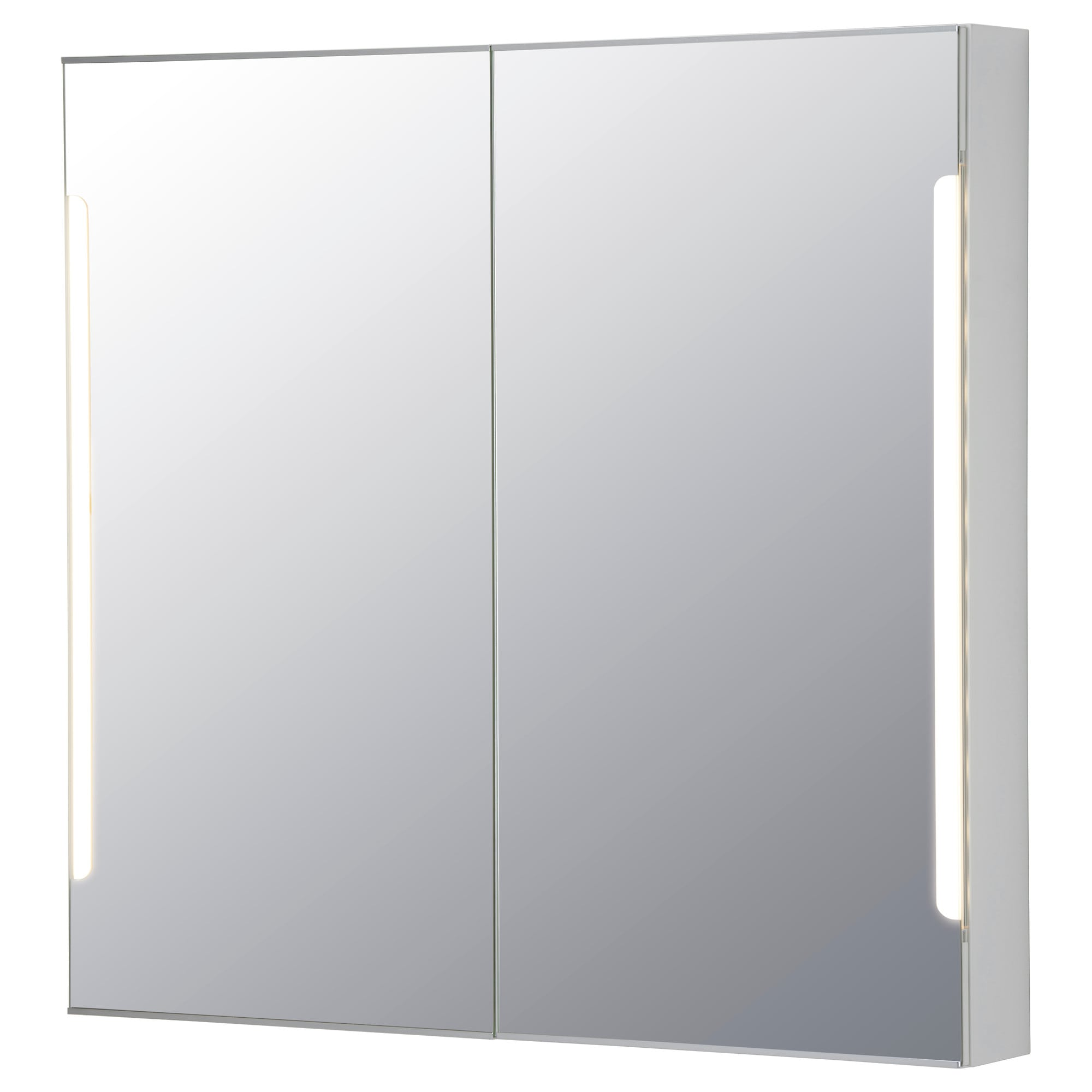 Bathroom Cabinet Mirrored Storjorm Mirror Cabinet W2 Doors & Light  Ikea