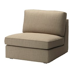 KIVIK one-seat section, Isunda beige Width: 90 cm Depth: 98 cm Height: 83 cm