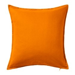 GURLI cushion cover, orange Length: 50 cm Width: 50 cm