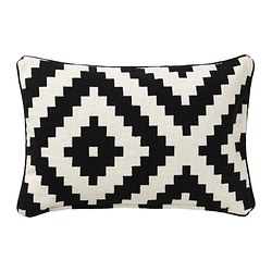 LAPPLJUNG RUTA cushion cover, black, white Length: 40 cm Width: 65 cm Package quantity: 0 pack