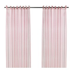 "NYVAKEN pair of curtains, pink Length: 5 ' 9 "" Width: 3 ' 11 "" Package quantity: 2 pack Length: 175 cm Width: 120 cm Package quantity: 2 pack"