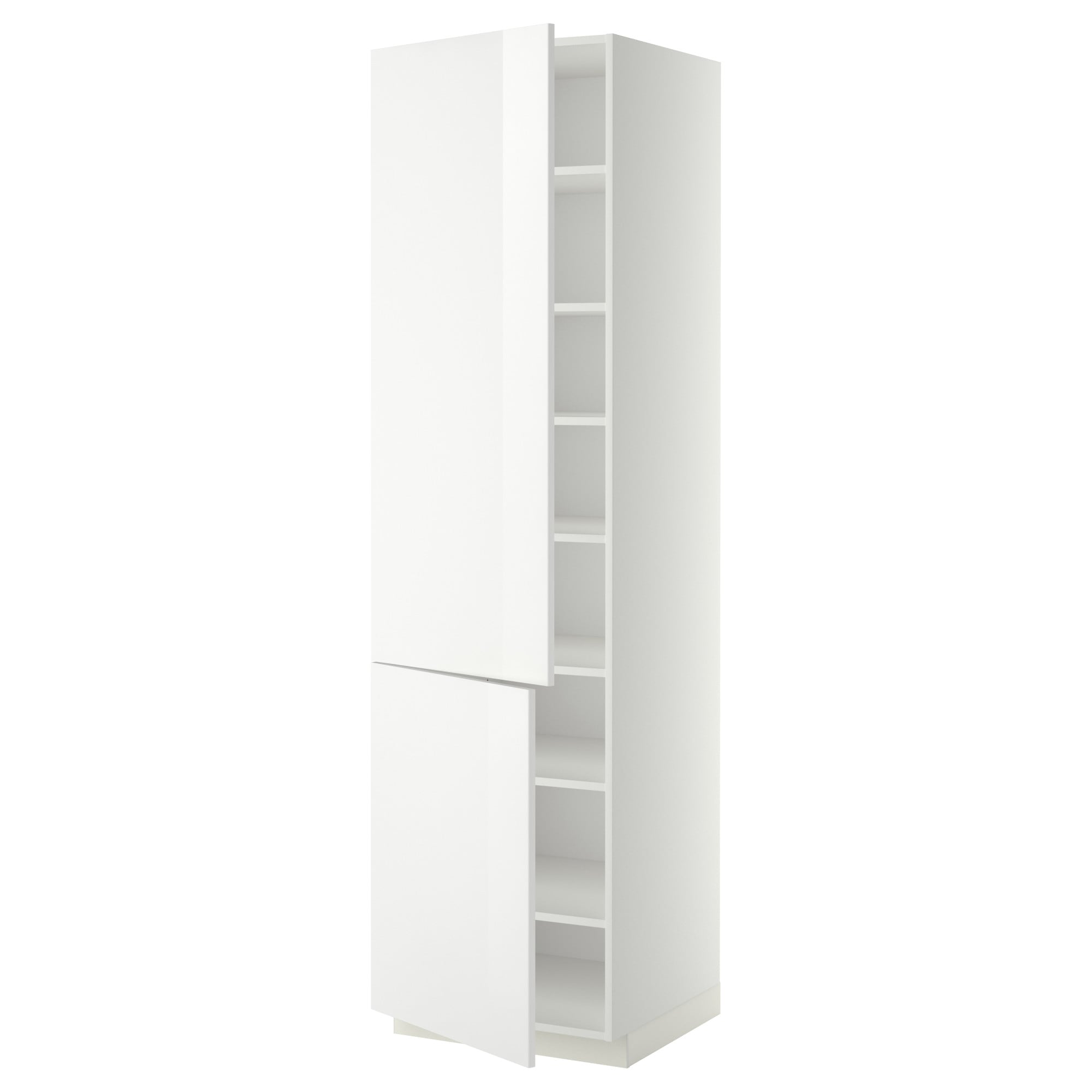 Metod High Cabinet With Shelves2 Doors White Ringhult White Ikea