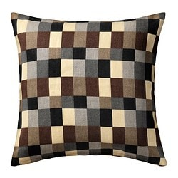 STOCKHOLM, Cushion cover, check, beige