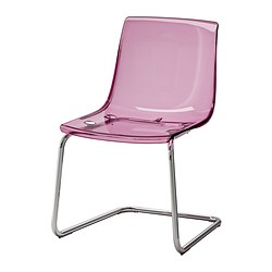 TOBIAS chair, lilac, chrome-plated Tested for: 110 kg Width: 55 cm Depth: 56 cm