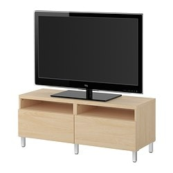 best tv bank mit schubladen birkenachbildung breite 120 cm tiefe 40 cm h he 48 cm. Black Bedroom Furniture Sets. Home Design Ideas