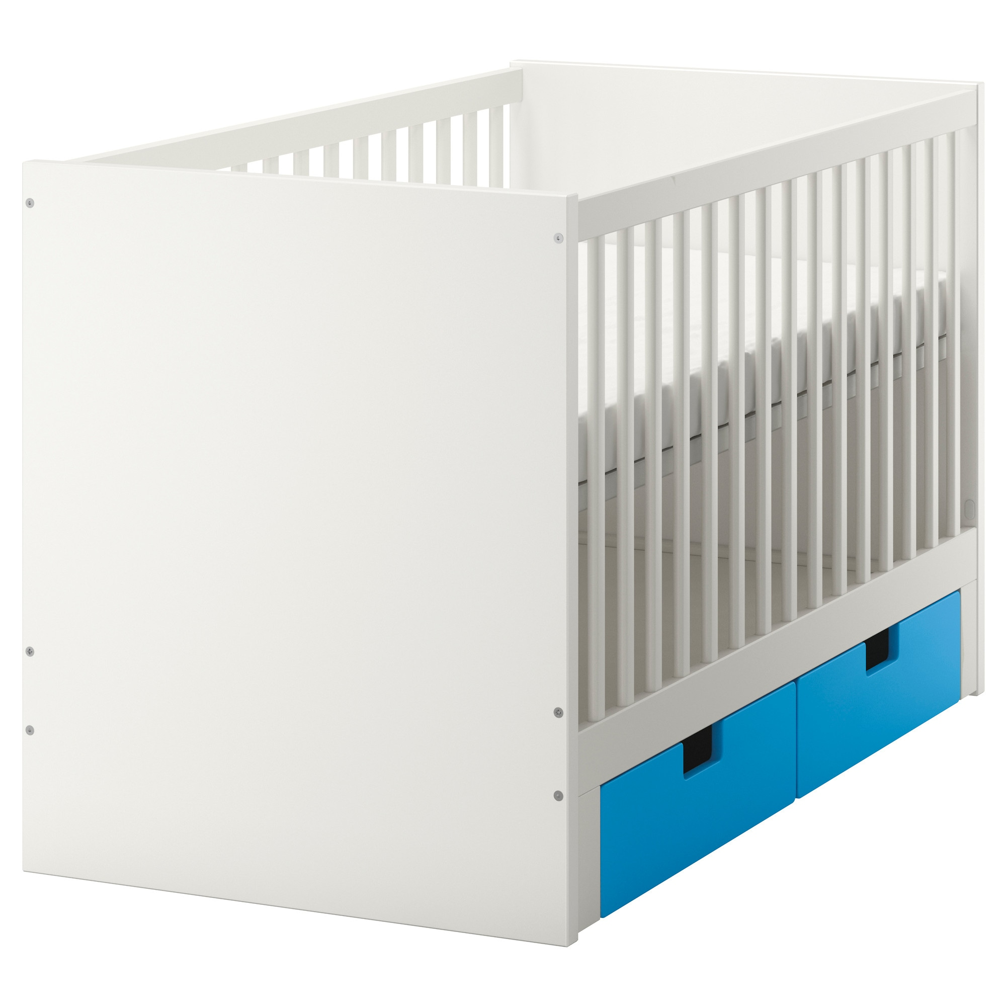 Crib price range - Stuva Crib With Drawers Blue Length 54 3 4 Width 29