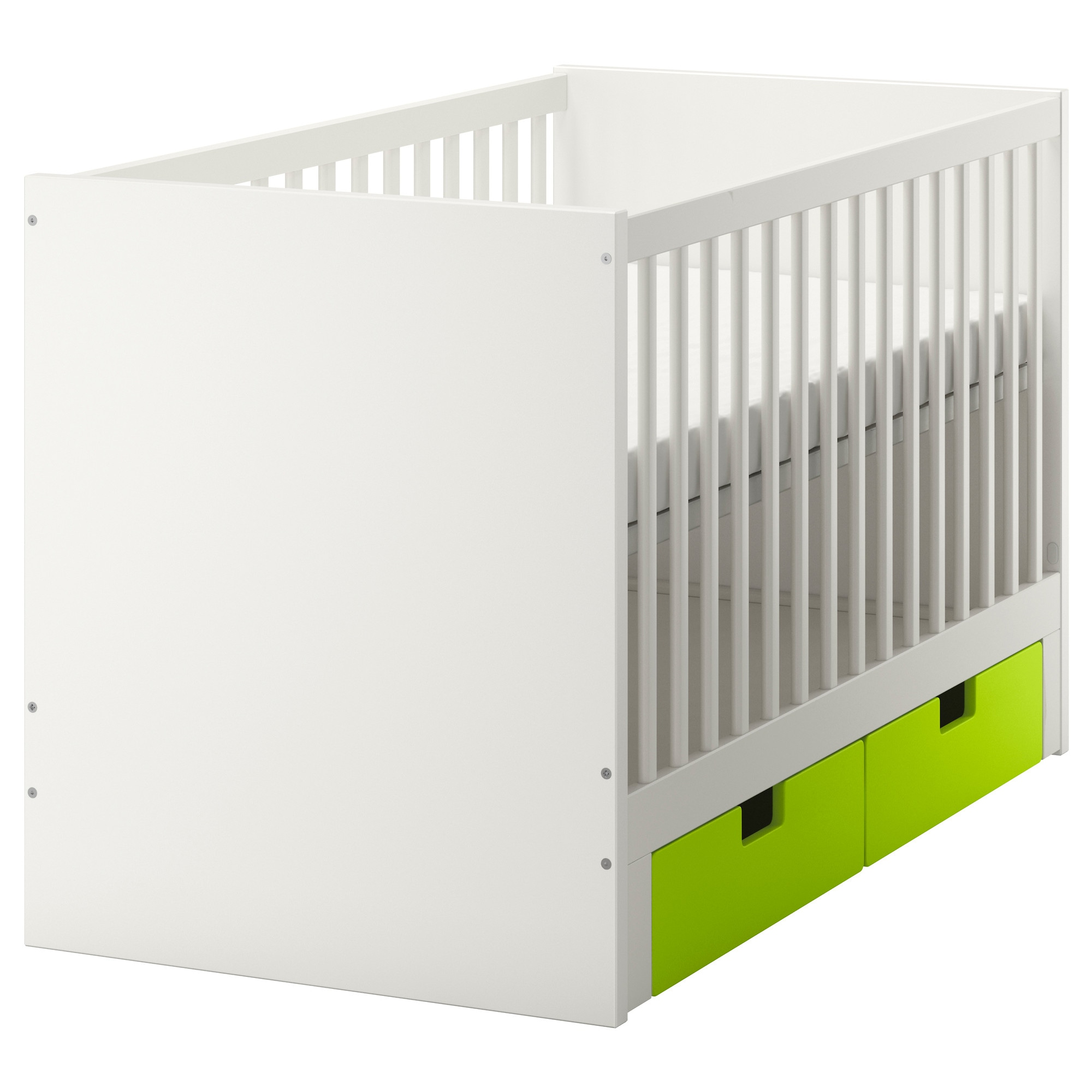 Unfinished crib for sale - Stuva Crib With Drawers Green Length 54 3 4 Width 29