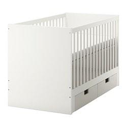 STUVA, Cot with drawers, white