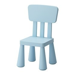 MAMMUT children's chair, in/outdoor light blue, light blue Width: 39 cm Seat depth: 26 cm Seat height: 30 cm