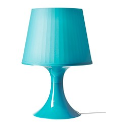 "LAMPAN table lamp, turquoise Height: 11 "" Base diameter: 5 1/8 "" Shade diameter: 7 1/2 "" Height: 29 cm Base diameter: 13 cm Shade diameter: 19 cm"