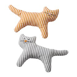 LEKA rattle, cat Package quantity: 2 pieces