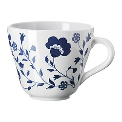 TORG mug, dark blue, white Height: 10 cm Volume: 40 cl