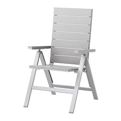 "FALSTER reclining chair, outdoor, gray foldable gray Width: 23 5/8 "" Depth: 27 1/8 "" Seat width: 18 1/2 "" Width: 60 cm Depth: 69 cm Seat width: 47 cm"