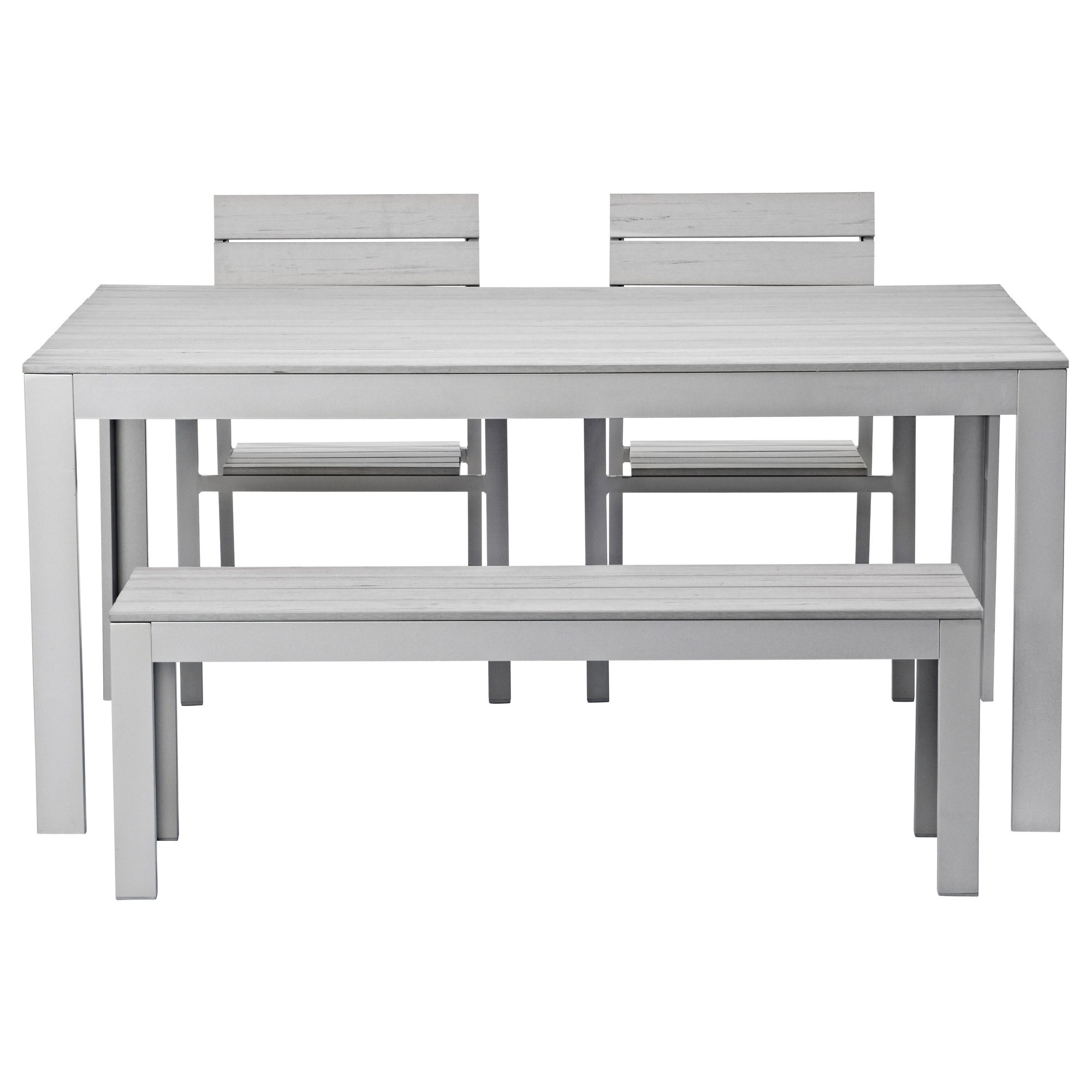 FALSTER Table, 2 Chairs And Bench, Outdoor   Gray   IKEA