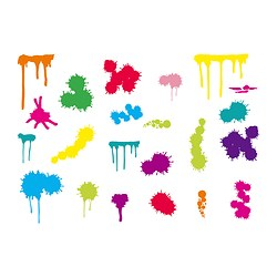 SLÄTTHULT decoration stickers, paint splats