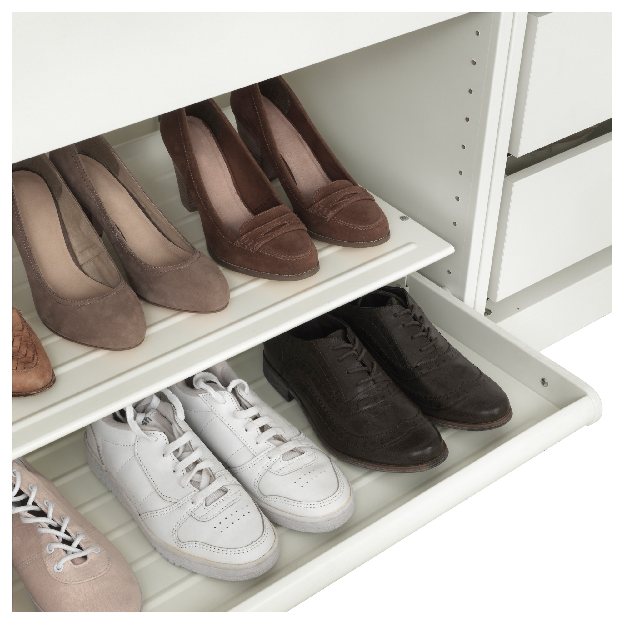 KOMPLEMENT Pull out shoe shelf white