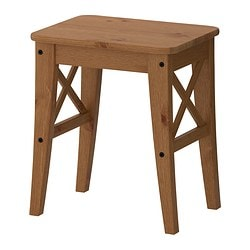 INGOLF, Stool, antique stain