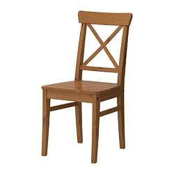 INGOLF chair, antique stain Tested for: 110 kg Width: 43 cm Depth: 52 cm