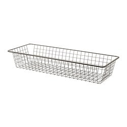 KOMPLEMENT wire basket with pull-out rail, dark grey Width: 96.2 cm Frame, width: 100 cm Depth: 35 cm