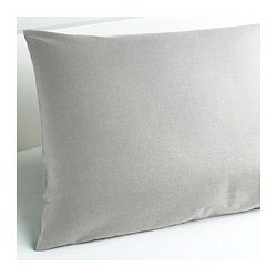 "SÖMNIG pillowcase, light gray Thread count: 166 square inches Length: 20 "" Width: 30 "" Thread count: 166 square inches Length: 51 cm Width: 76 cm"