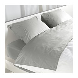 SÖMNIG sheet set, light gray Thread count: 166 /inch² Thread count: 166 /inch²