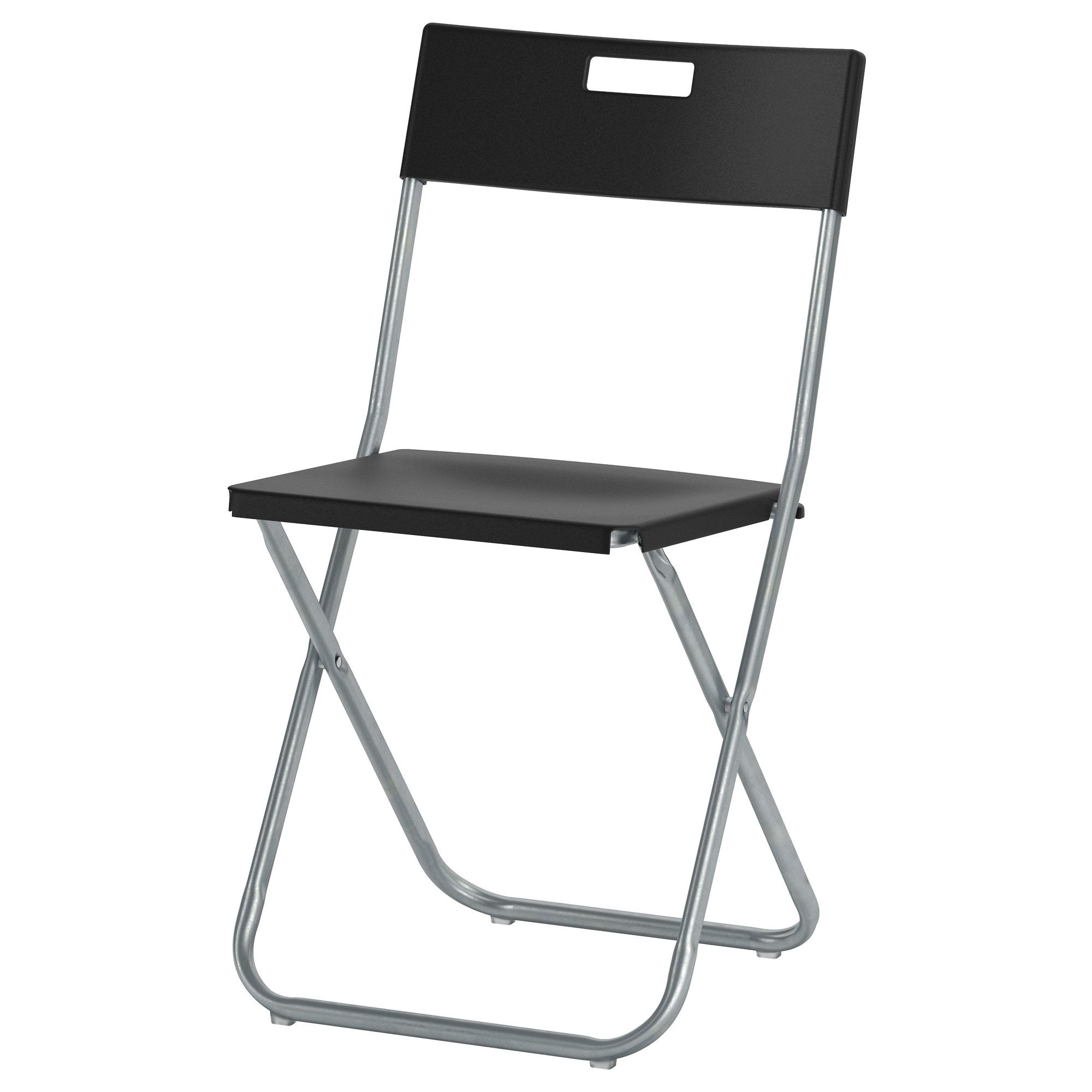 gunde folding chair black tested for 220 lb width 16 18