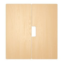 STUVA MÅLAD door, birch effect Width: 60.0 cm Height: 64 cm Package quantity: 2 pieces