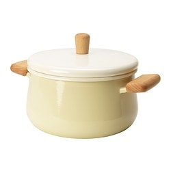 KASTRULL pot with lid, beige Diameter: 19 cm Height: 11 cm Volume: 3 l