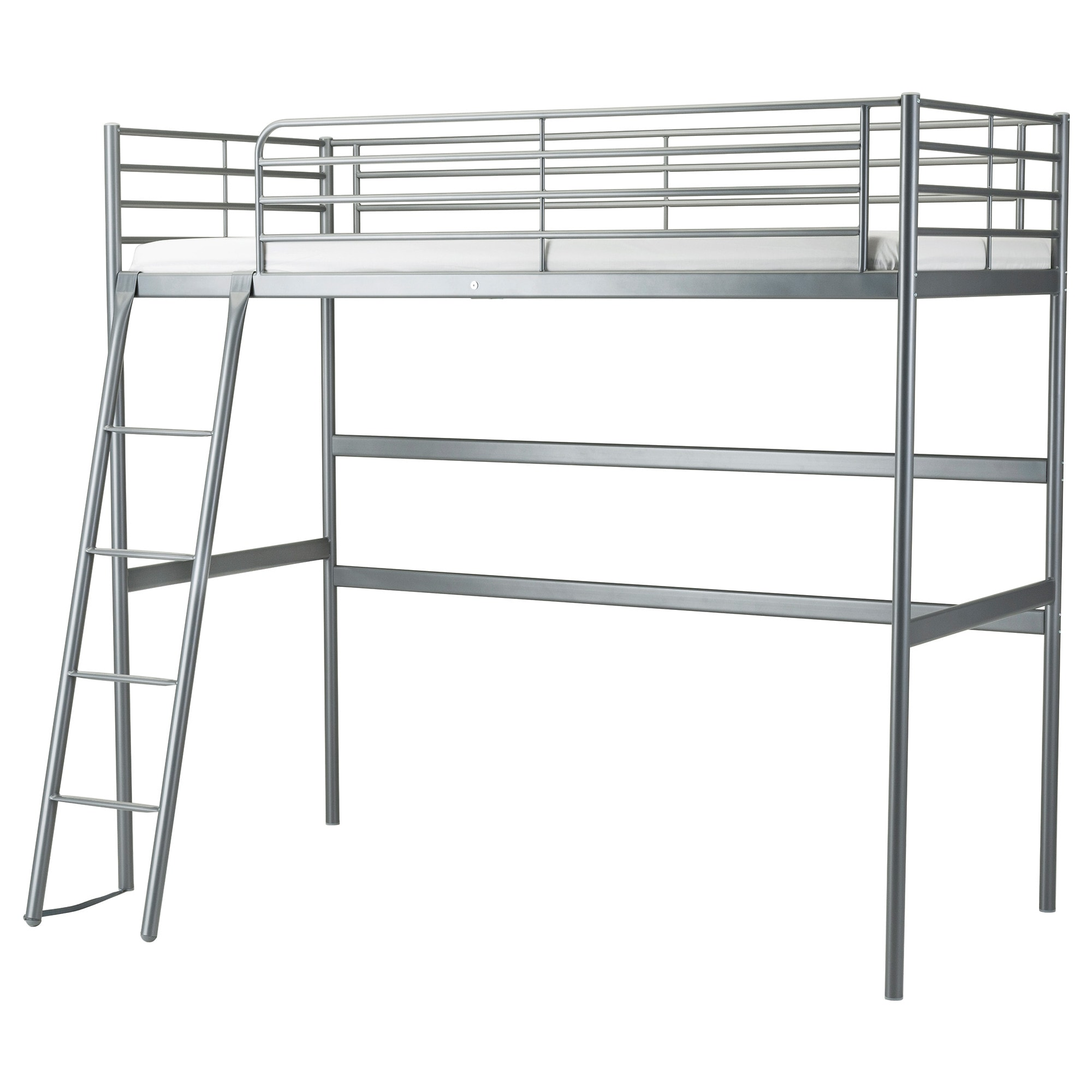 Bunk bed with desk underneath ikea - Sv Rta Loft Bed Frame Silver Color Length 78 Distance From Floor To Bed