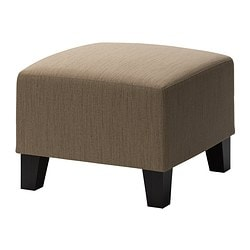 EKENÄS footstool, Hensta light brown