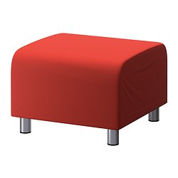 KLIPPAN pouffe cover, Flackarp red-orange