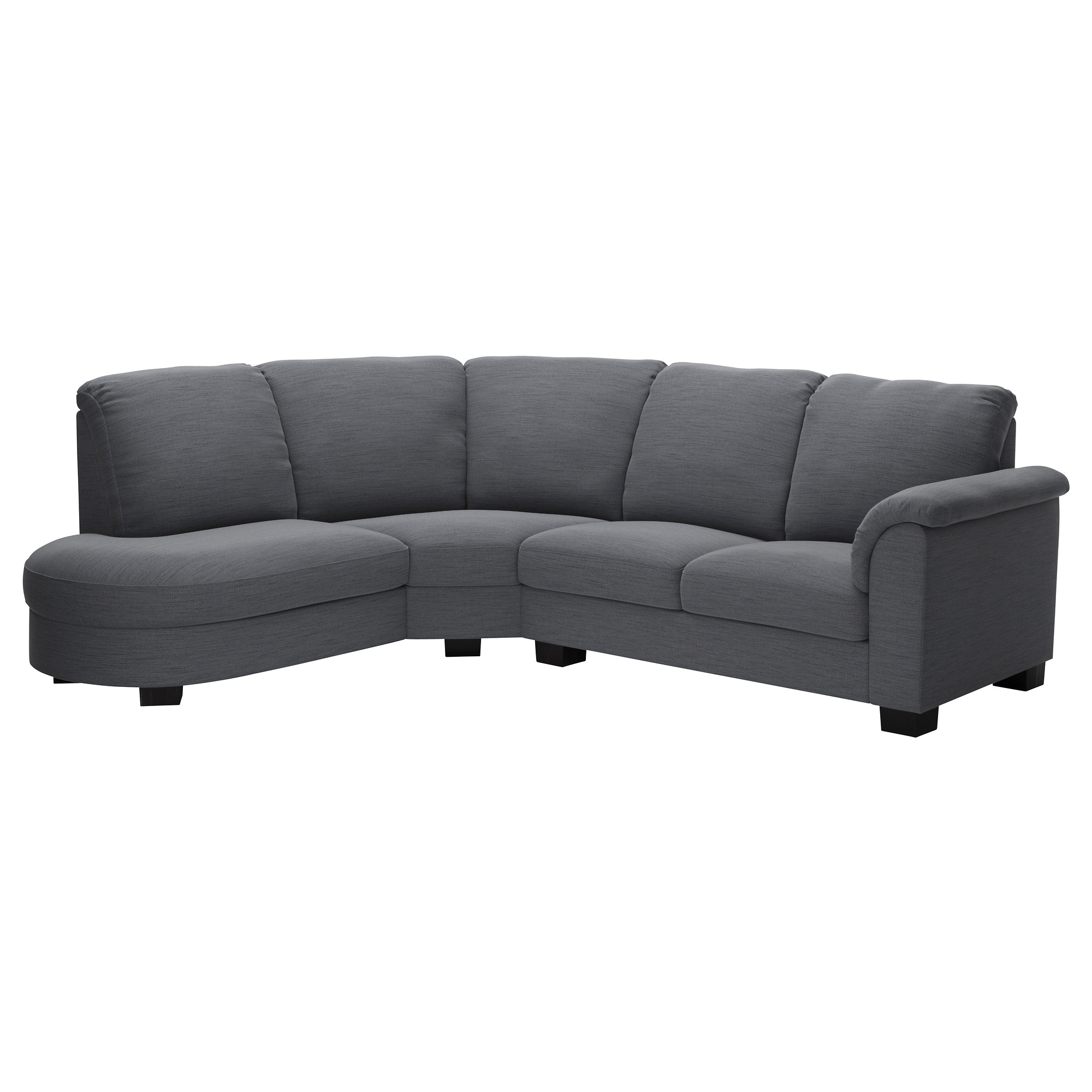 Corner sofa with arm right TIDAFORS Hensta grey